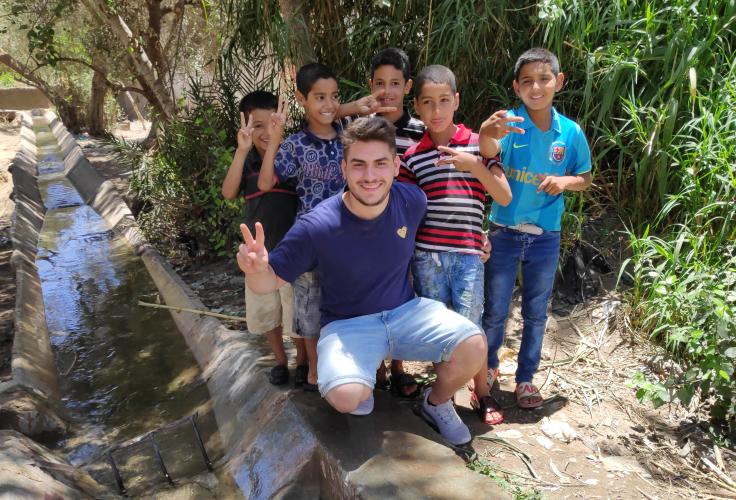 Glückliche marokkanische Kinder